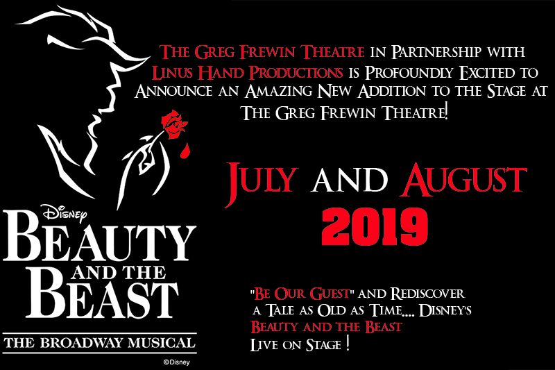 Disney's Beauty and the Beast playing at the Greg Frewin Theatre - July and August, 2019