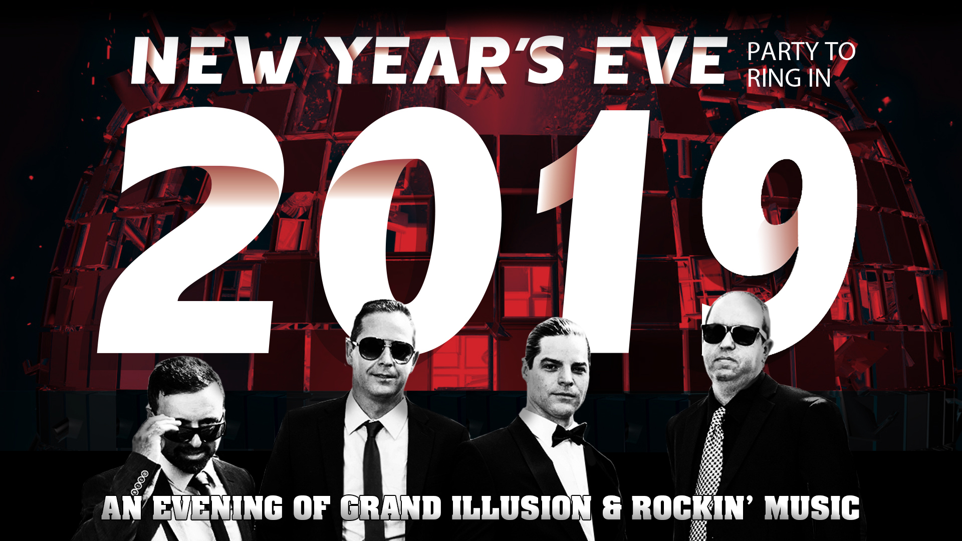 New Year's Eve Party VEGAS STYLE with the Associates at the Greg Frewin Theatre - Sunday, December 31st, 2017.