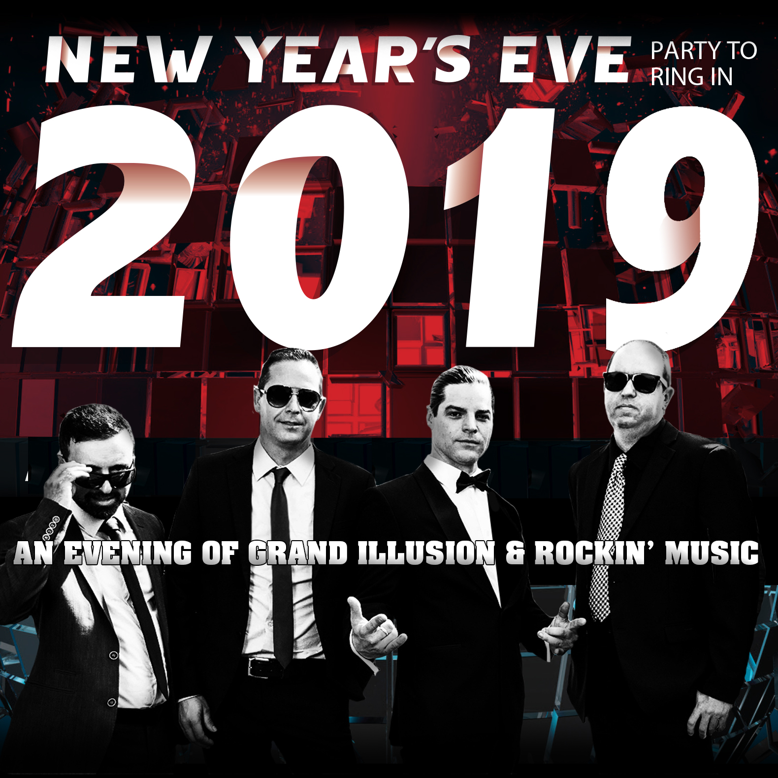 New Year's Eve Gala 2018 - VEGAS STYLE! At The Greg Frewin Theatre - December 31st, 2018.