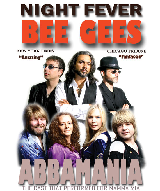 Night Fever: Abba & Bee Gees Tribute playing at the Greg Frewin Theatre.