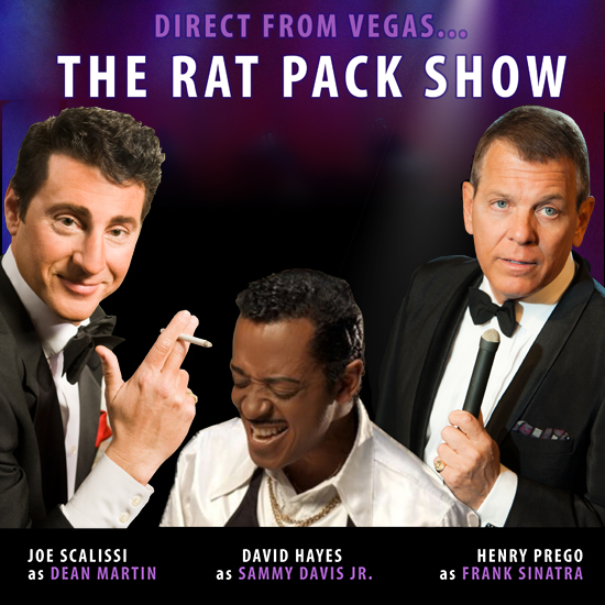 The Rat Pack Tribute Band playing at the Greg Frewin Theatre - Wednesday & Thursday, November 7th & 8th, 2018.